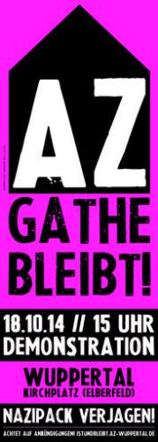 AZ bleibt an der Gathe! | 18.10.2014 - 15:00 Uhr | Wuppertal